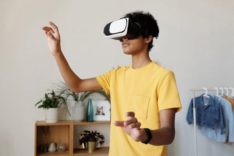 Person viewing virtual tours